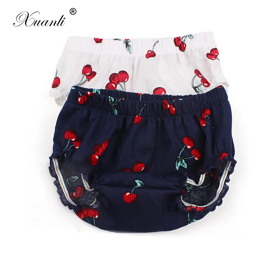 Cotton Baby Shorts Newborn Boys Girl Bloomers  Baby Fashion  Cherry Patterned Shorts Diaper Cover PP Pants