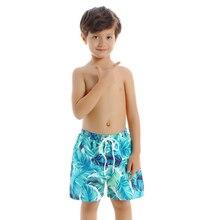 В году, летние шорты для мальчиков подростковые Шорты для плавания плавки дети мальчики пляжные шорты детский купальный костюм плавки с принтом
