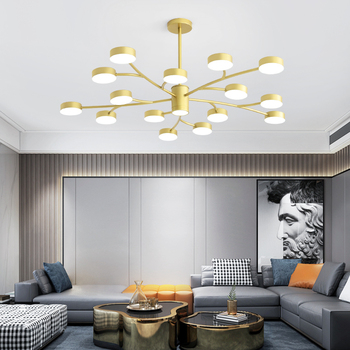 Nordic modern LED chandelier acrylic gold LED chandelier living room chandelier bedroom chandelier dining room chandelier