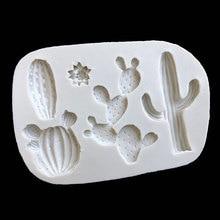 Baking-Mold Kitchen-Supplies Food-Grade Silicone DIY 1pcs Multi-Purpose Non-Stick Cactus-Pattern