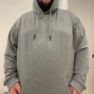 Image 3 - Degli uomini di grandi dimensioni con cappuccio di grandi dimensioni felpa 5XL 6XL 7XL 8XL 9XL 10XL 11XL 12XL manica lunga allentato caldo ragazzo abbigliamento sportivo