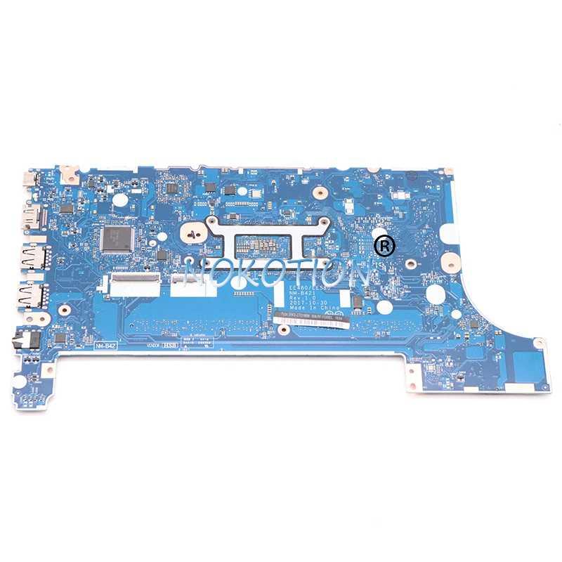 Nokotion 01LW192 EE480 EE580 ل lenovo thinkpad E480 E580 NM-B421 اللوحة المحمول SR3LA i5-8520U DDR4 HD630