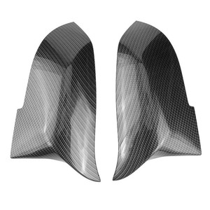 Image 2 - 2Pcs ประตูรถด้านหลังดูกระจกเงากระจกมองหลังสีดำหมวกรถจัดแต่งทรงผมสำหรับ BMW F30 F31 F32 f33 F36 3 4 Series
