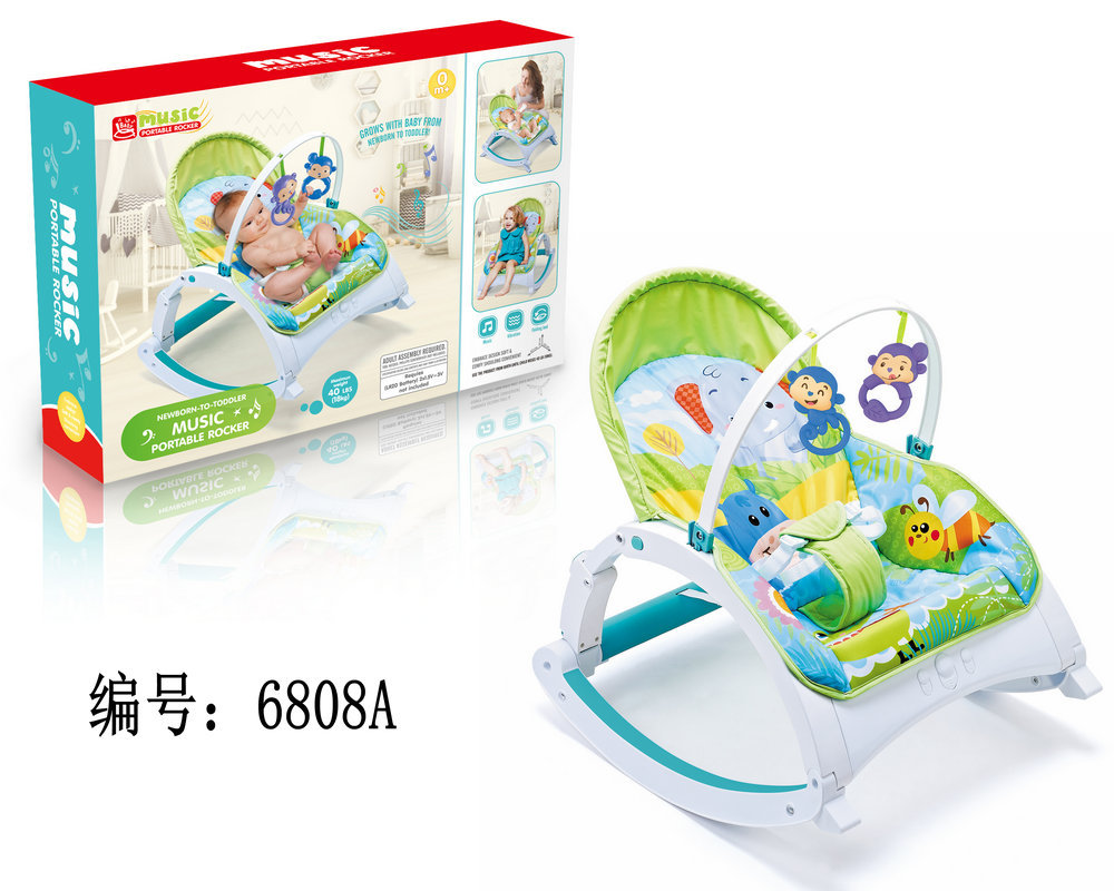 Hf439dc946c004b188d0f24599d14f60f6 Newborn Multifunctional  foldable Electric baby rocking chair with toy music soothing and comfortable shaking baby chair