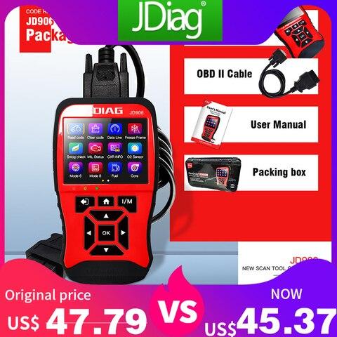 JDiag JD906 professional obd2 OBDII automotive scanner Car Diagnostic Tool Full System Upgraded Code Reader OBD2 Scanner JD906
