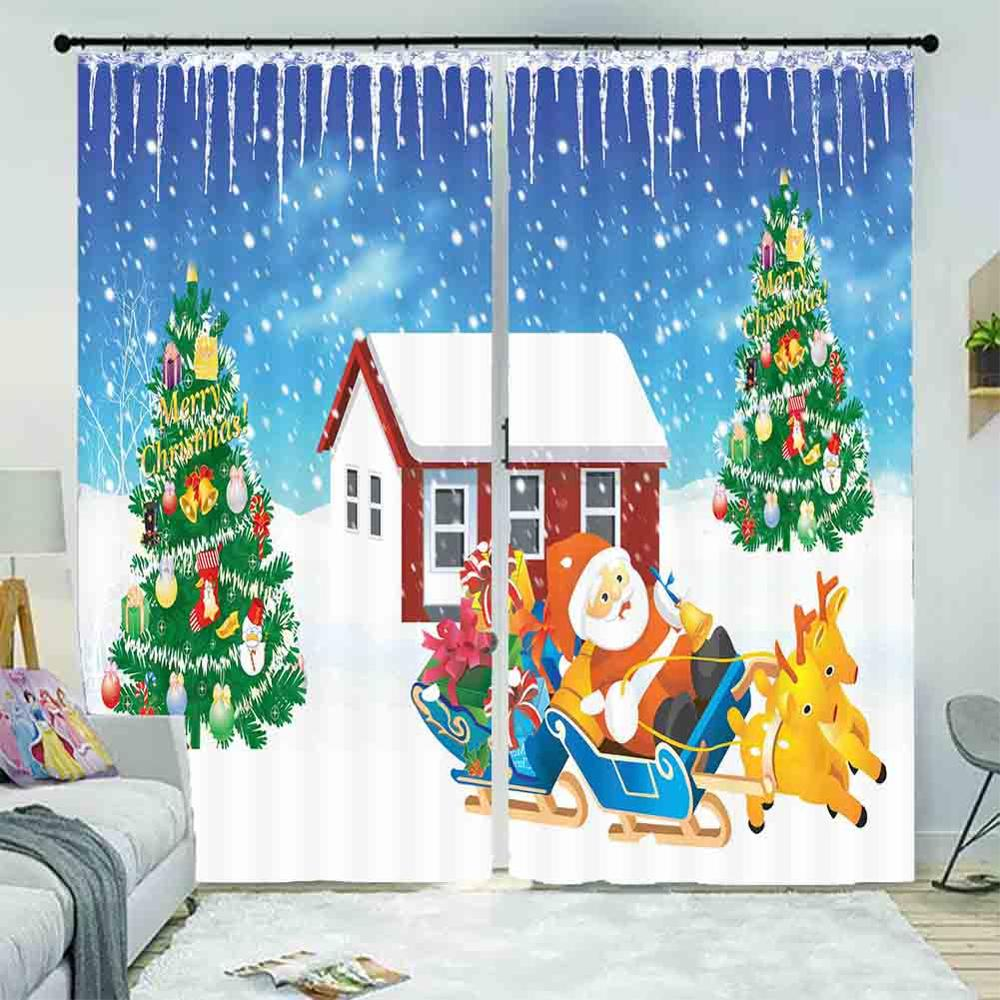Custom Photo Curtain Christmas Therm Curtains Drapes For Living Room Bedroom Kids Drapes Cortinas