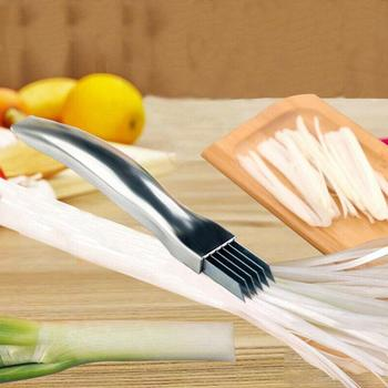 Kuchnia ze stali nierdzewnej kuter cebula posiekany zielony artefakt zielony nóż do cebuli nóż rozdrobniony cebula kiełków cebula cięcia I9Z9 tanie i dobre opinie KITPIPI STAINLESS STEEL Ekologiczne Noże Warzyw noże