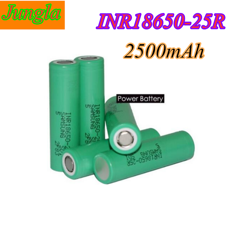 18650 battery for Samsung Original INR18650 25R 20A discharge lithium batteries, 2500mAh electronic cigarette Power Battery image