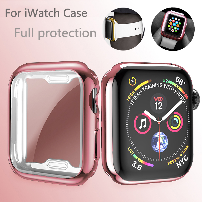 Watch Case For Apple Watch Series 5 4 3 2 1 Band Case 42mm 38m 40mm 44mm Slim All InclusiveTPU Case Protector For IWatch 4 Cover