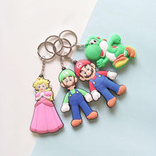 Super Mary série dessin animé Mario Porte-clés super Marie pendentif Mario Frères Louis Porte-clés cadeau d'anniversaire pour enfants