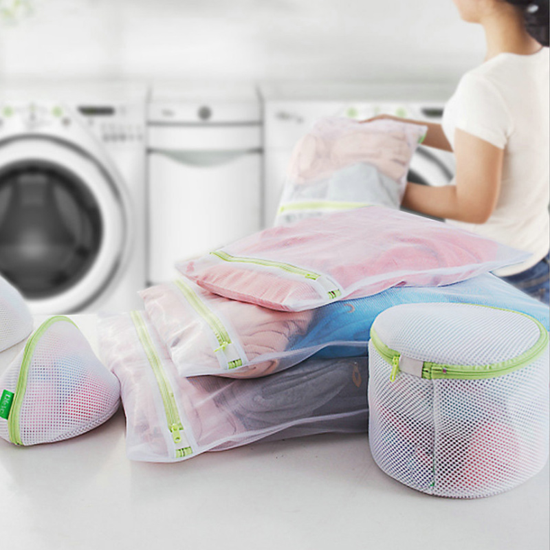 6pcs Mesh Laundry Bag Travel Clothes Storage Net Zip Bag For Bra Stocking Underwear TP899