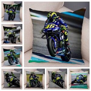 Sport moto course housse de coussin Mobile vélo oreiller couvre Super doux court en peluche taie d'oreiller pour canapé maison voiture taie d'oreiller