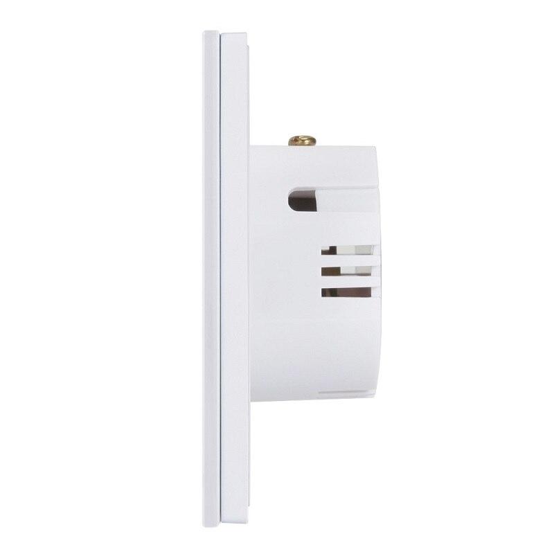 8 pces eruiklink ue interruptor de toque luz parede, 2 gang painel vidro sem fio interruptor toque remoto rf funciona broadlink pro casa inteligente - 6