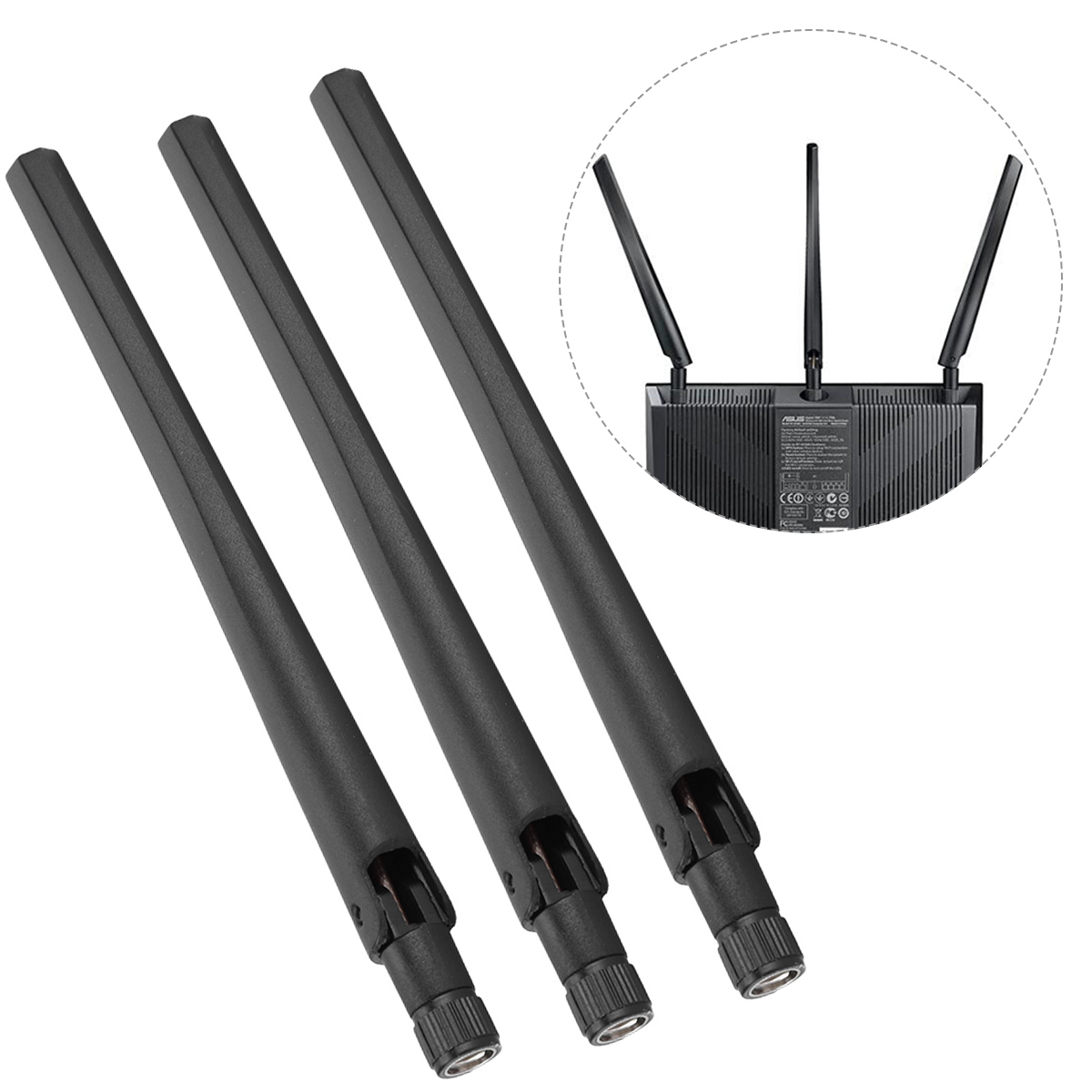 WiFi Router Antenna Of RP-SMA Interface Gain 5dBi For ASUS RT-AC68U AC66U 2.4G/5G Dual Band Wireless LAN Wifi Antenna Booster