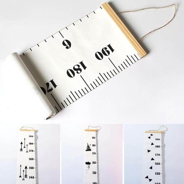 20*200cm Height Measure Wall Hanging Baby Child Kids Growth Chart Height Measure Ruler Wall Sticker for Room Home Bedroom Decor 2