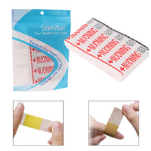 100Pcs Band Aid Wound Sterile Hemostasis Stickers First Aid Bandage Heel Cushion Adhesive Plaster Outdoor Survival(China)