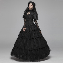 PUNK RAVE Women Gothic Lolita Lace Skirt Steampunk Retrp Party Elegant Cupcake Halloween Stage Perform Long