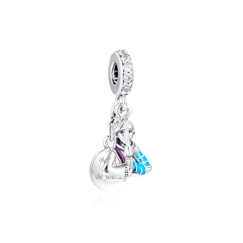 CKK Silver 925 Jewelry Disney Mulan Dangle Charm Fits Original Bracelets Sterling Silver Beads