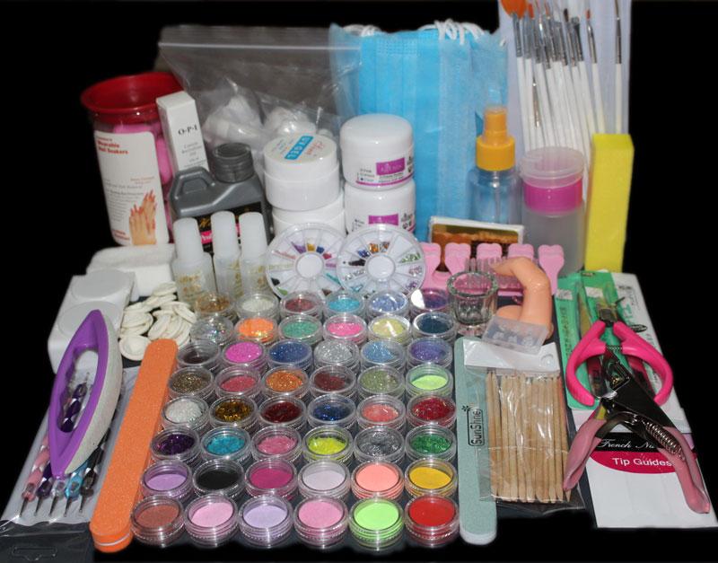 2017 Real Manicure Set Acrylic Powder Nail Art Kit Uv Gel Manicure Diy Tips Polish Brush Set Ms-113