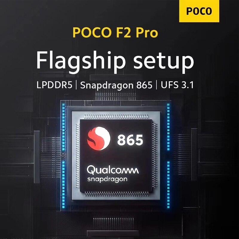 """Globale Versione Xiaomi POCO F2 Pro 6GB 128GB Cellulare Snapdragon 865 64MP Quad Posteriore Telecamere 6.67 """"20MP pop-up Anteriore Fotocamera NFC 4"""