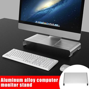 Wspornik ze stopu aluminium monitor komputerowy podstawa stojaka antypoślizgowy uchwyt do ekranu PUO88 tanie i dobre opinie Etmakit CN (pochodzenie) 10 -20 Suitable for home room office Aluminum alloy 37x22x6cm 50x22x6cm China