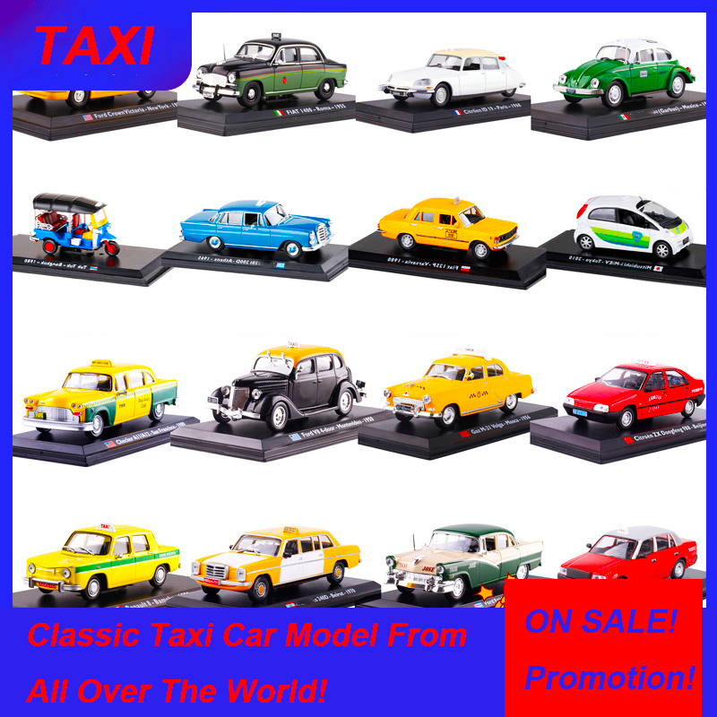<font><b>1</b></font>:<font><b>43</b></font> Scale Classic Diecast Alloy <font><b>Car</b></font> <font><b>Model</b></font> <font><b>FIAT</b></font> FORD Renault Citroen Cab Taxi Toys Auto Vehicles Gifts F Show Display Collection image