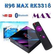 H96 MAX 9.0 Smart TV Box Rockchip RK3318 4GB RAM 64GB ROM H.265 4K HDR 2.4G&5G Wifi Bluetooth 4.0 Android TV Box Google Play box mx10 smart tv box android 8 1 rockchip rk3328 ddr 4 gb ram 64gb rom iptv smart set top box 4k usb 3 0 hdr h 265 media player box