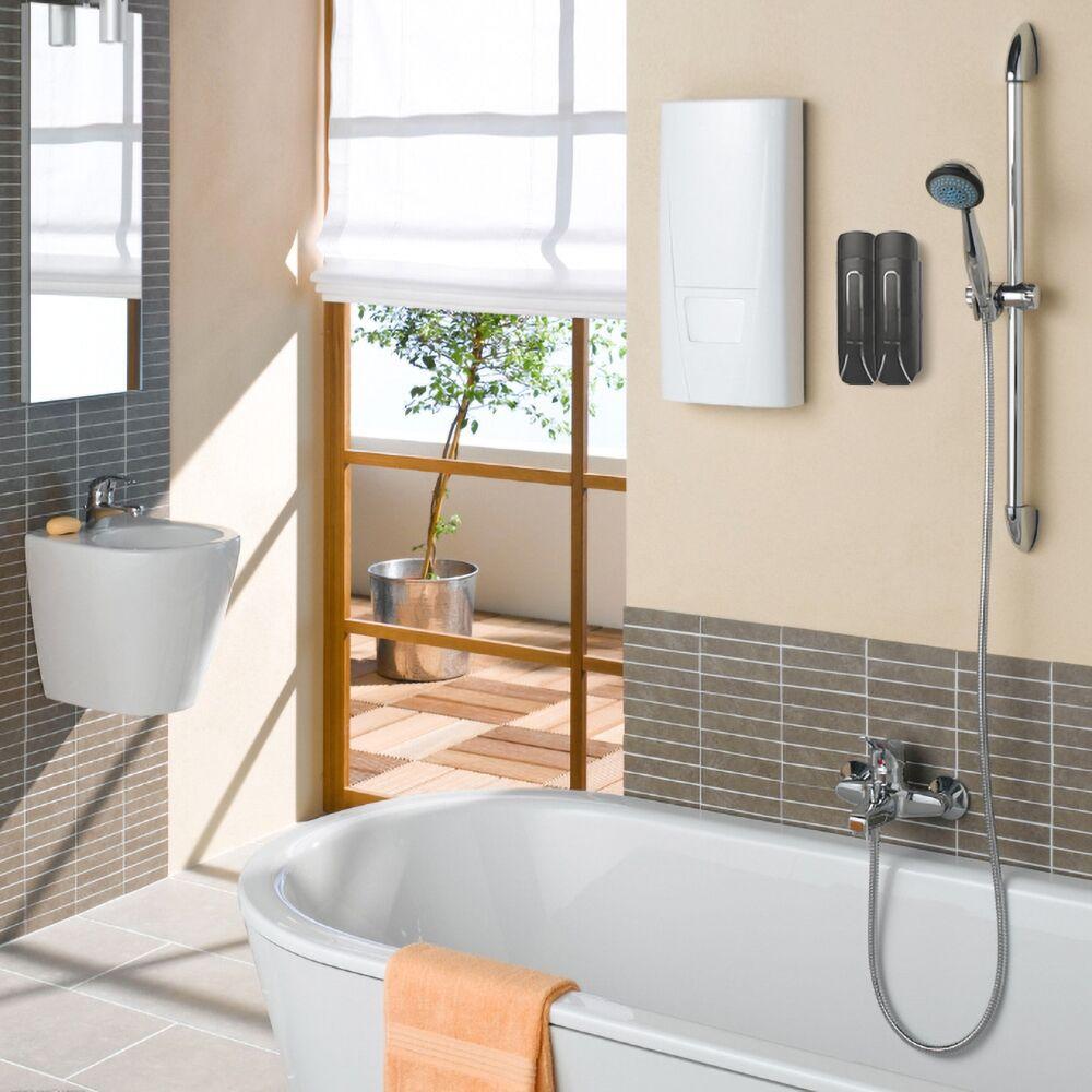 Hf43b37de8b0e43be89dcedc58f1148802 Bathroom Liquid Soap Dispenser Wall Mounted For Kitchen Plastic 350ml Shower Gel Detergent Shampoo Bottle Hotel Home Accessories