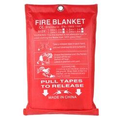 1 m x 1 m fogo cobertor de fibra de vidro fogo chama retardador emergência sobrevivência fogo abrigo cobertura de segurança fogo cobertura de emergência