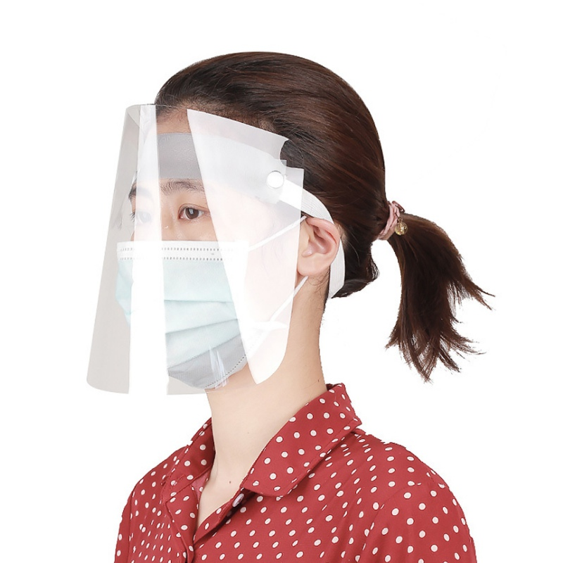 For Man Women Transparent Masks Anti-Fog Catering Anti Dust Plastic Mask Dustproof Replacement Covers  Protector Guard.