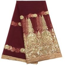 Высокое качество белая, африканская, с блестками кружевной ткани бордовый французский в нигерийском стиле Тюль Кружева Ткань Домашний набор «сделай сам» для вечернее платье