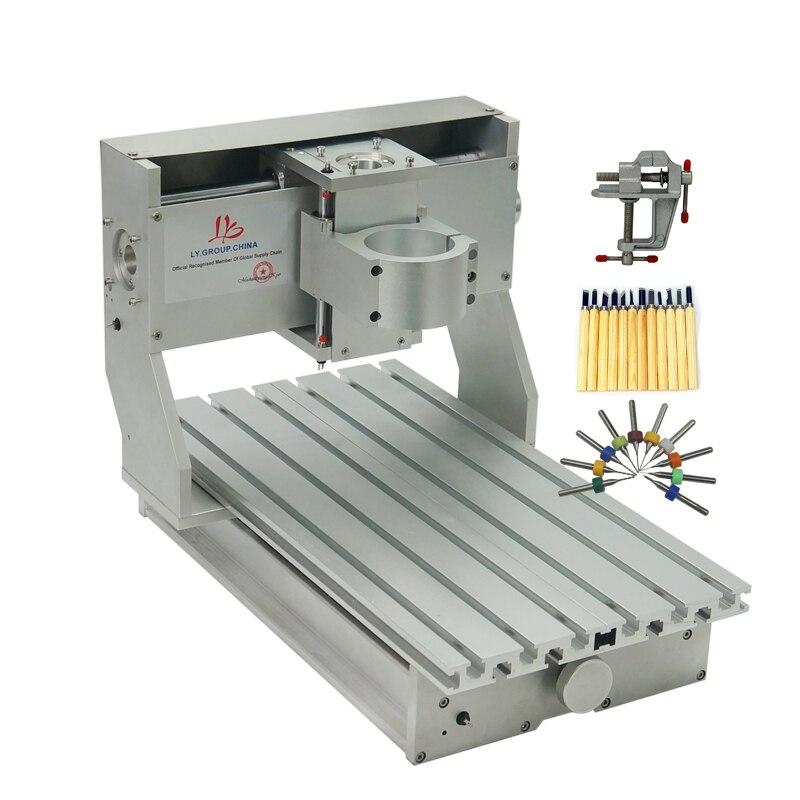 DIY Cnc Machine Frame Kit 3020 CNC Frame Assembled Mini CNC Router Lathe 2030 Spare Parts With Limit Switch