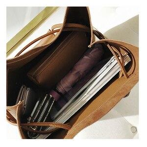 Image 5 - Moda PU deri kadın omuz çantaları marka çanta kadın kova çanta tasarımcısı askılı çanta yüksek kalite kadınlar Mujer Bolsas