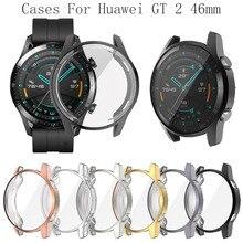 Чехол для часов huawei Watch GT 2 46 мм, чехол из мягкого силикона и ТПУ, защитный чехол для часов, защитная рамка для huawei GT 2 46 мм