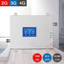 tri band repeater 2g 3g 4g gsm signal 900+2100+2600 4G 2600mhz network booster amplifier mobile