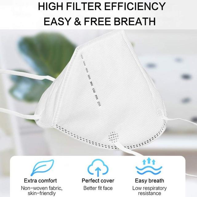 20 PCS Masks Air Purifying Dust Masks Vented Respirator Face Mouth Masks Dropshipping Wholesale 4