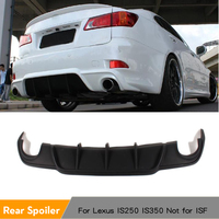 PU Matt Black Painted Auto Car Rear Bumper Lip Diffuser Spoiler Fit For Lexus IS250 IS350 2006   2011|rear bumper lip|bumper lip|car rear bumper -