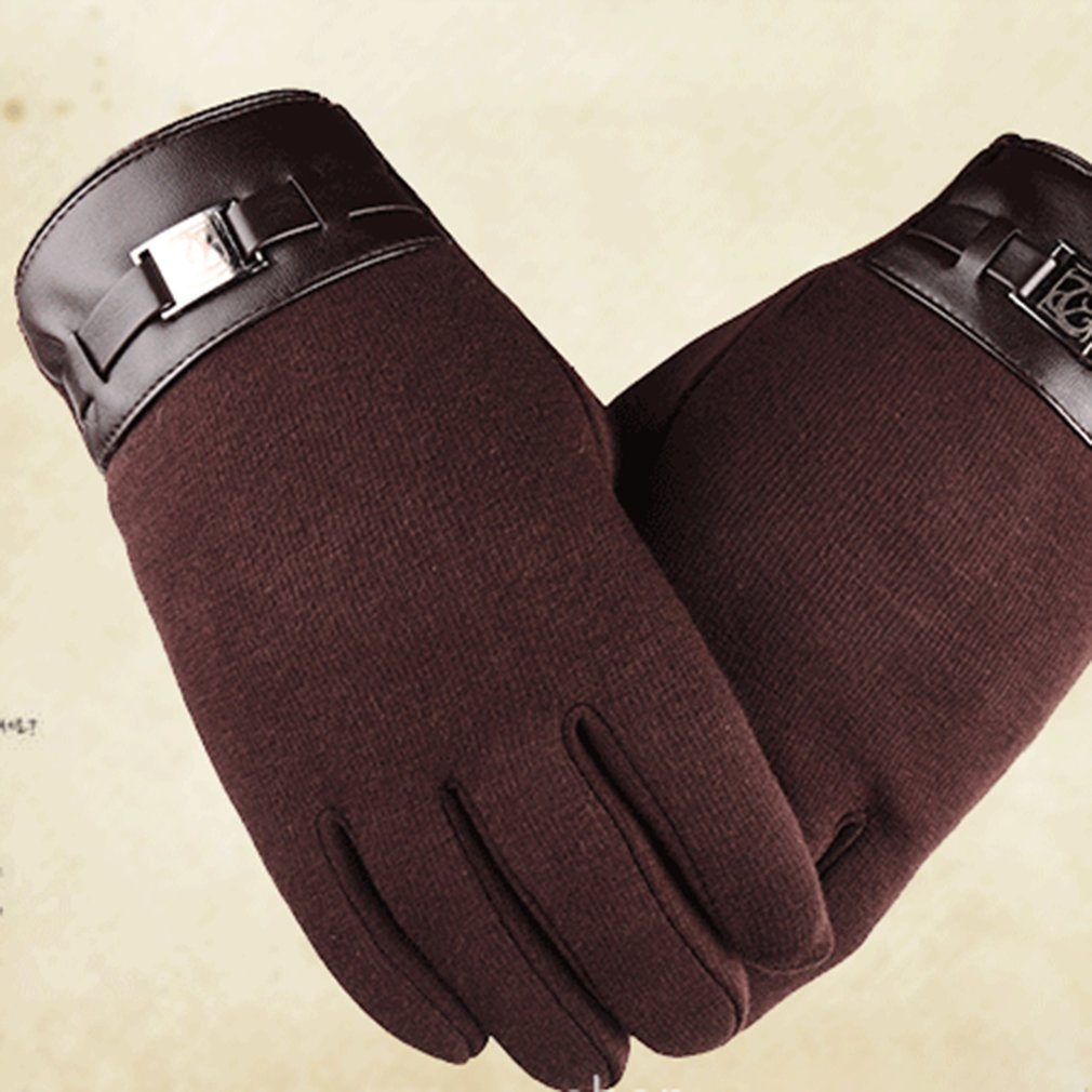 Men Women Winter Touch Screen Windproof Outdoor Sports Anti-slip Cycling Riding Thicken Warm Full Finger Elastic Glove