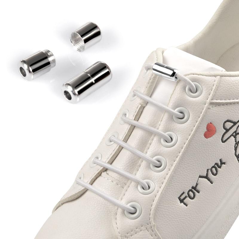 Elastic Shoelaces Round Locking No Tie Shoe Laces Quick Lazy Laces Rubber Sneakers Shoelace For Kids Adult  Shoe Laces No Tie