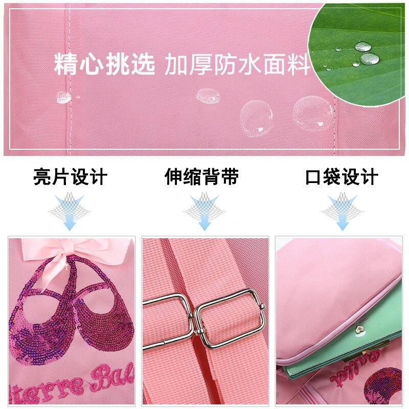 New Style Wu Dao Bao Children Latin Dance Bag Children Backpack Women's Ballet Bag CHILDREN'S Dancing Bag Printed Words