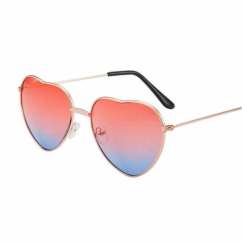 Rimless LOVEแว่นตาสุภาพสตรีรูปหัวใจCandyแว่นตากันแดดโลหะผู้หญิง 2020 ออกแบบแฟชั่นRayผู้ชายกระจกOculos De Sol