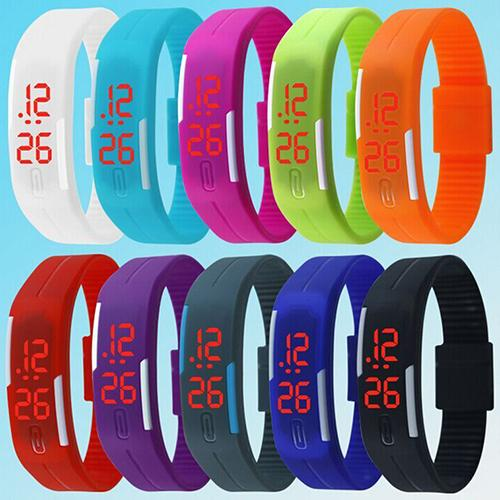 Women Watches Unisex Men Fashion Silicone Band Red LED Sports Clock Bracelet Digital Wrist Reloj Mujer Relogio  Fashion Watch Fo
