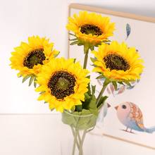 Cheap Free Shipping Sunflower Party Decorations Fall Decore Wedding Christmas Artificial Fake Silk Flowers CN(Origin)