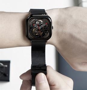 Image 2 - CIGA Reloj de pulsera mecánico ahuecado, de acero inoxidable, de lujo, automático