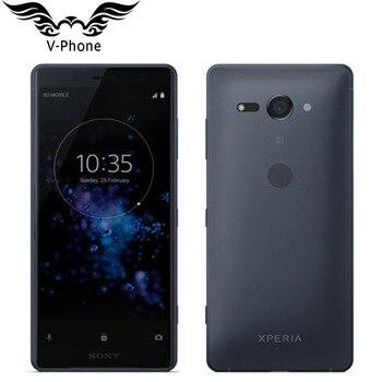 Перейти на Алиэкспресс и купить Новый оригинальный двойная sim sony Xperia XZ2 Compact H8324 4 Гб 64 Гб мобильный телефон 5 дюймSnapdragon 845 NFC 4G Android телефон