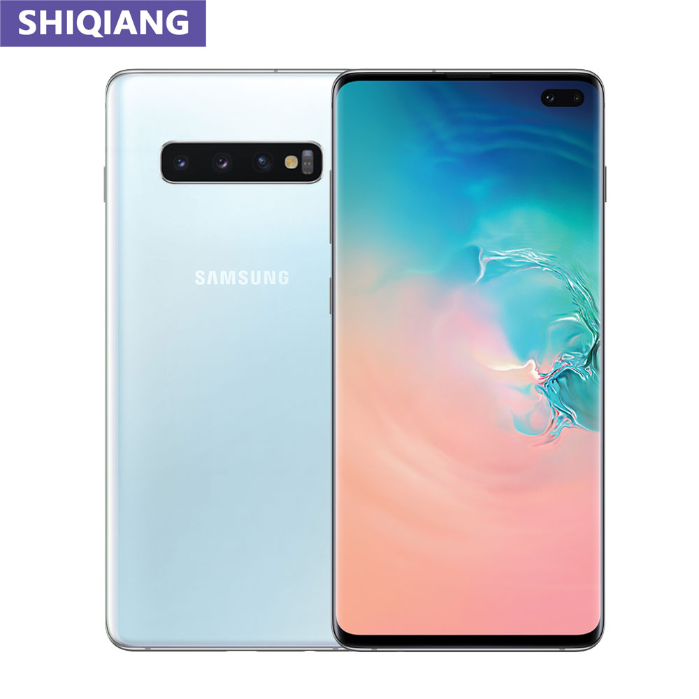"Gebruikt Samsung Galaxy S10 + S10 Plus Originele Ontgrendeld 8Gb & 128Gb Rom Octa Core 6.4 ""5 camera Snapdragon 855 Android Mobiele Telefoon"