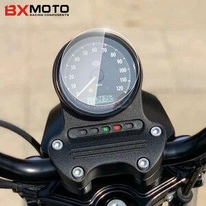 Image 2 - Motosiklet kilometre saati şerit etiket ekran koruyucu küme Scratch koruma için Harley Davidson XL883 XL1200 XL 883 1200