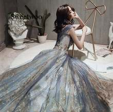 Элегантное Вечернее Платье с v образным вырезом и блестками
