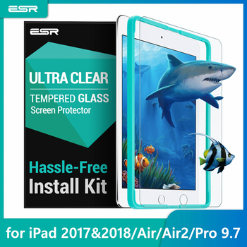 ESR Screen Protector for iPad 9.7 2017 Tempered Glass Film 2018 New release/For Pro inch Air2 Free Applicator - discount item  30% OFF Tablet Accessories