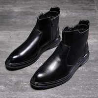 Mannen Laarzen Herfst Enkellaars Mode Schoenen Lace Up Schoenen Mannen Business Casual Hoge Top Mannen Schoenen